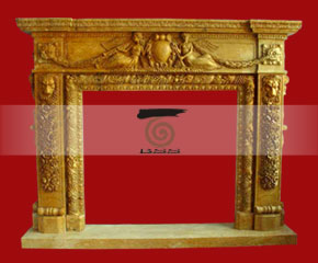 marble fireplace surround in USA style A-FP061