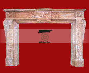 marble fireplace surround in USA style A-FP064