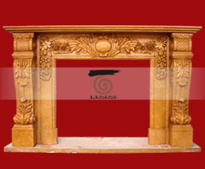 marble fireplace surround in USA style A-FP067