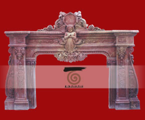 marble fireplace surround in USA style A-FP069