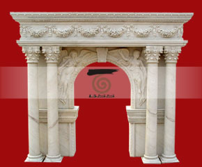marble fireplace surround in USA style A-FP073