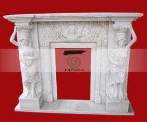 marble fireplace surround in USA style A-FP075