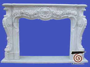 marble fireplace surround in USA style A-FP070