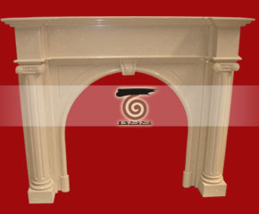 marble fireplace mantel E-FP059