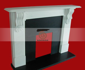 marble fireplace mantel E-FP061