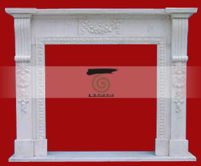 marble fireplace mantel E-FP062