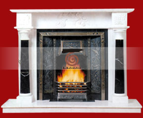 marble fireplace mantel E-FP063