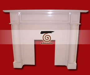 marble fireplace mantel E-FP065