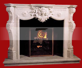 marble fireplace mantel E-FP067
