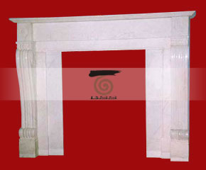 marble fireplace mantel E-FP074