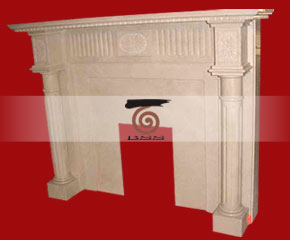 marble fireplace mantel E-FP075
