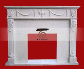 marble fireplace mantel E-FP076