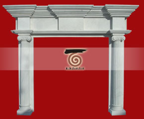 marble fireplace mantel E-FP077