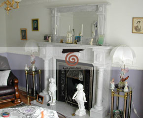 marble fireplace mantel E-FP078