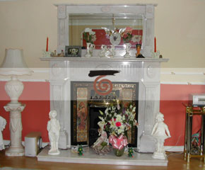 marble fireplace mantel E-FP079