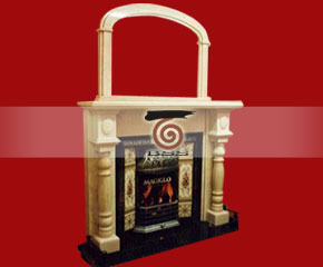 marble fireplace mantel E-FP080
