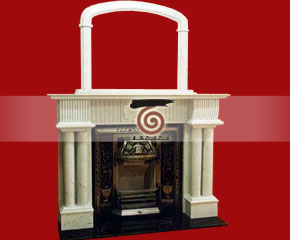 marble fireplace mantel E-FP081