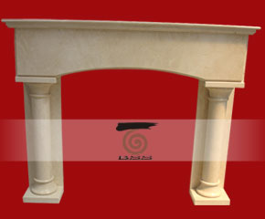 stone fireplace mantel E-FP086