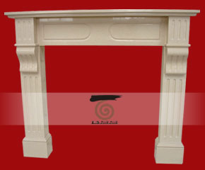 stone fireplace mantel E-FP091