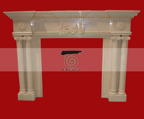 marble fireplace mantel E-FP019