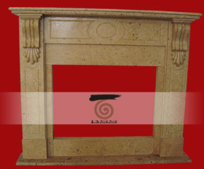 stone fireplace mantel surround O-FP002
