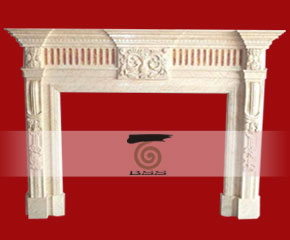stone fireplace mantel surround O-FP003