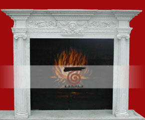 stone fireplace mantel surround O-FP004