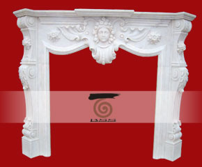 stone fireplace mantel surround O-FP006