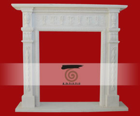 stone fireplace mantel surround O-FP007
