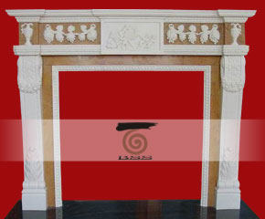 stone fireplace mantel surround O-FP008