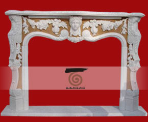 stone fireplace mantel surround O-FP009
