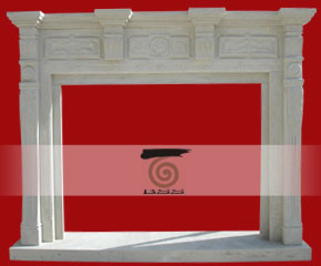 stone fireplace mantel surround O-FP014