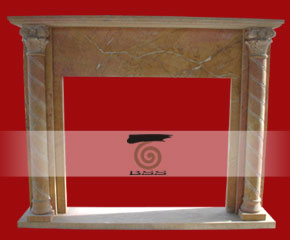 stone fireplace mantel surround O-FP016