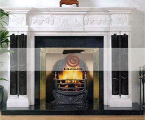 marble fireplace O-FP019 (WFP004)