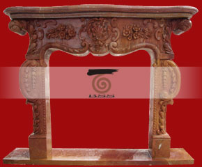 marble fireplace O-FP023 (WFP018)