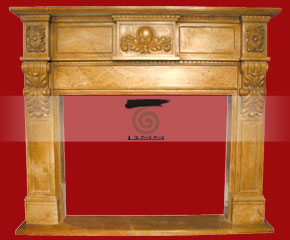 marble fireplace O-FP028 (WFP027)